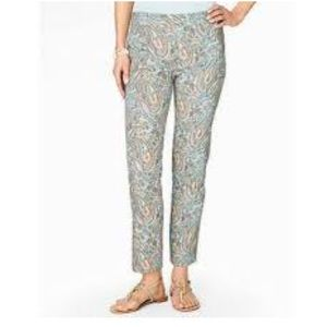 Talbots Chatham Size 6 Paisley Crop Ankle Pants